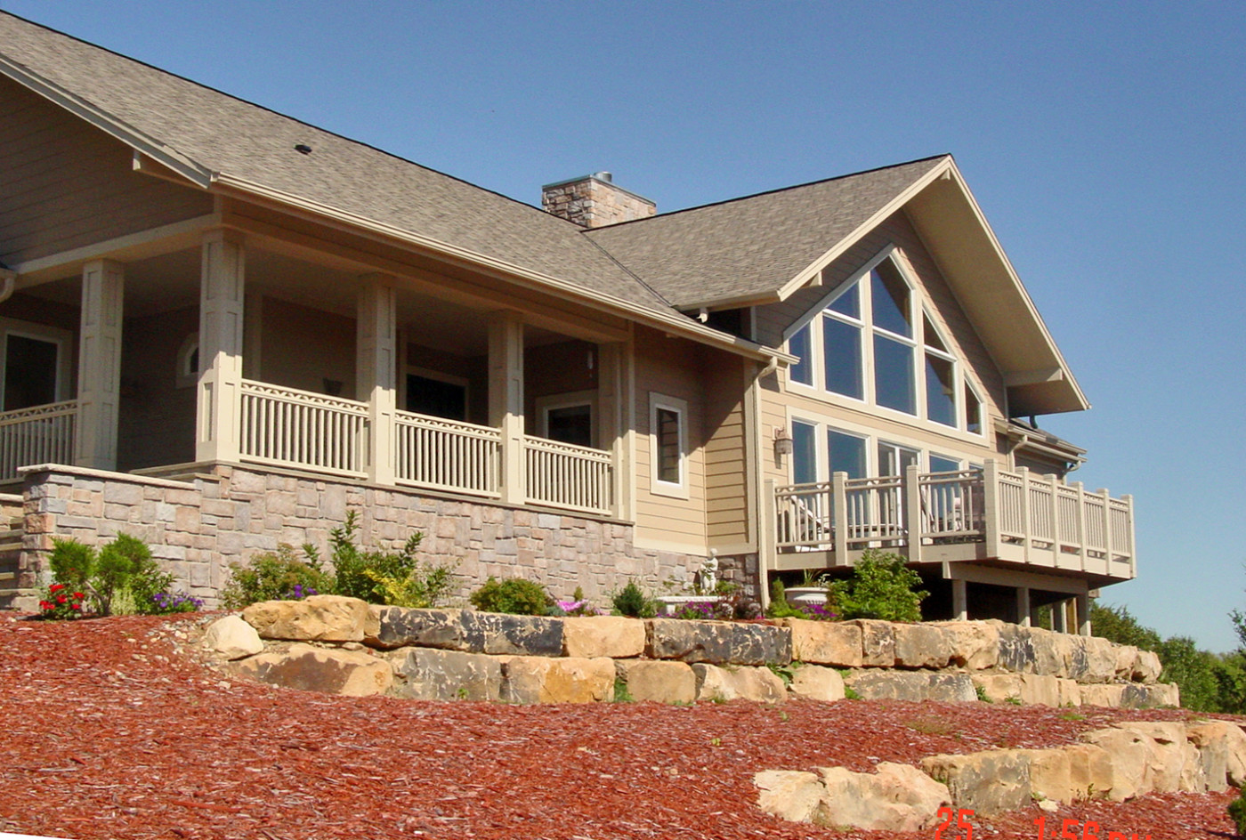 Custom Home With Trapezoid