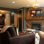 Basement Finish with Rustic decor