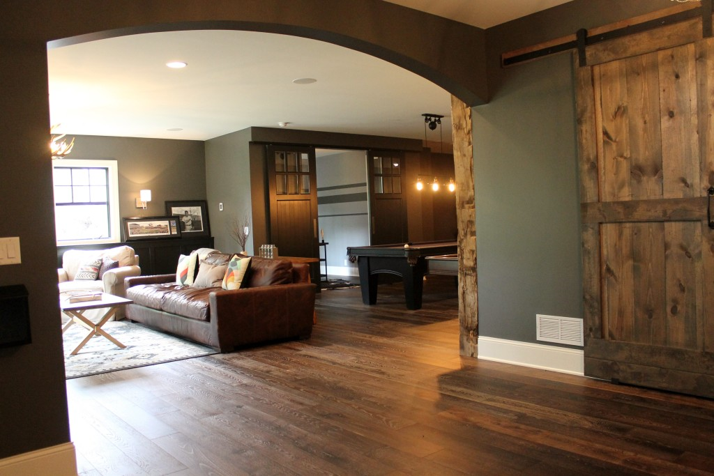 luxury basement finishing