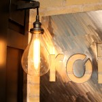 Industrial lighting custom basement finish