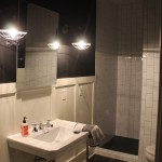 Basement Bathroom Modern-industrial style, subway tile