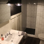 Basement Bathroom Modern-industrial style, subway tile