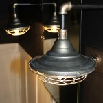 Decorative Industrial style bathroom lighting