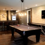 Basement finish game room and wet bar