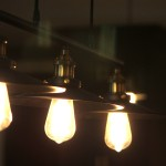 Decorative lighting in basement finish
