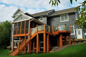 Custom Cedar Deck and Screen Porch Addition