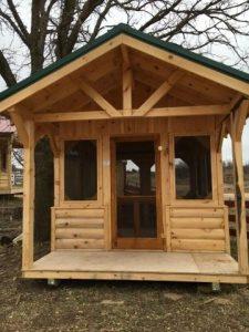 Log screen porch