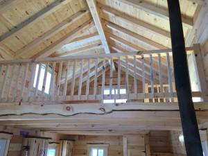 tiny home loft area