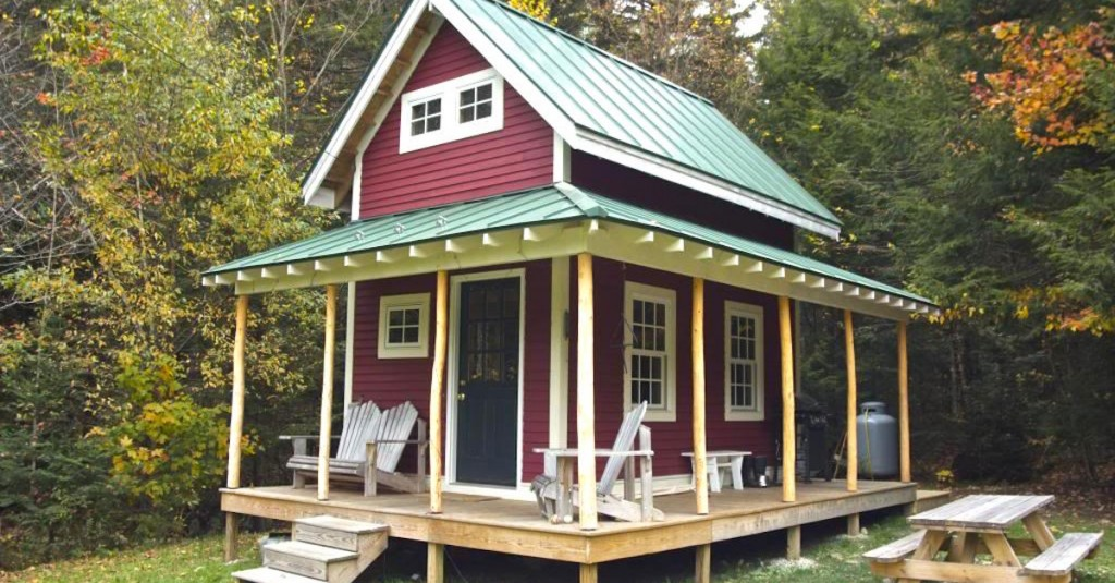 Porch tiny house rustic